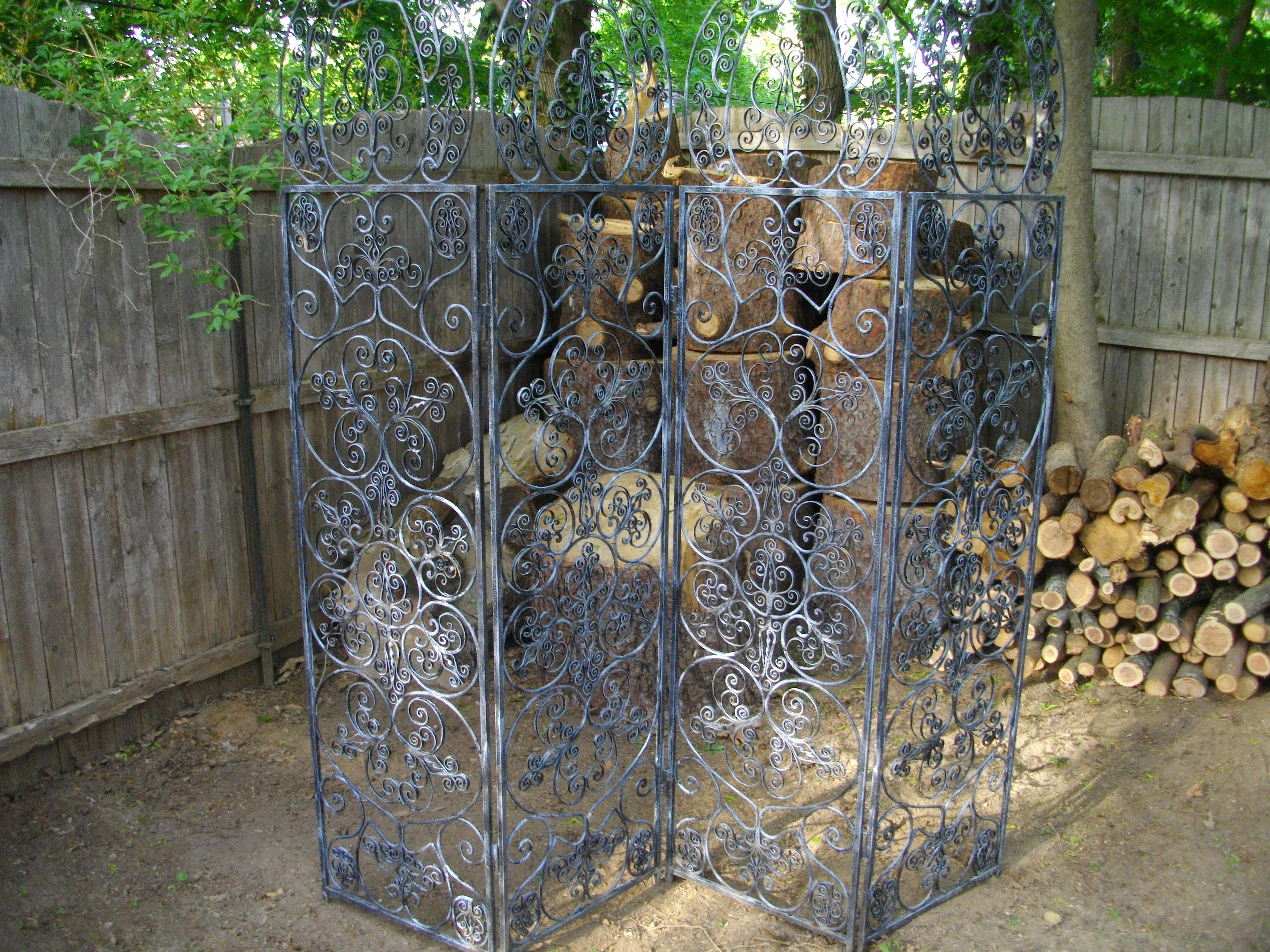 This Wrought Iron Garden Screen Came From A Princeton Client Who Moved To  Bozeman, MT. She Had A Yard Sale With Many Lovely Garden Accessories And  Accent ...